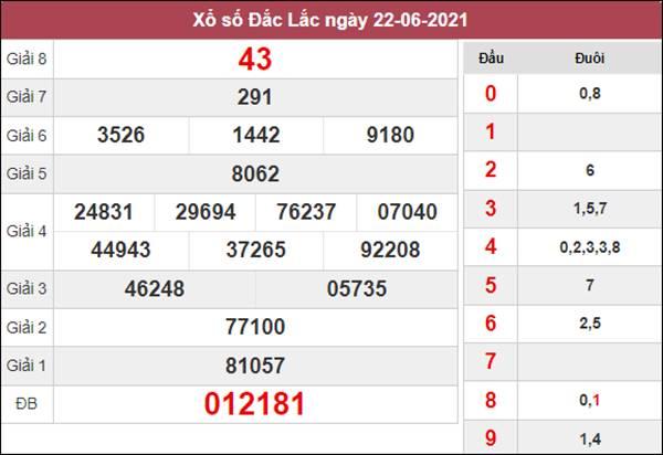 Dự đoán XSDLK 29/6/2021 thứ 3 chốt cầu lô VIP siêu chuẩn
