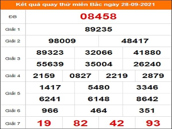✅ Quay thử dự đoán KQXSMB 28/9/2021
